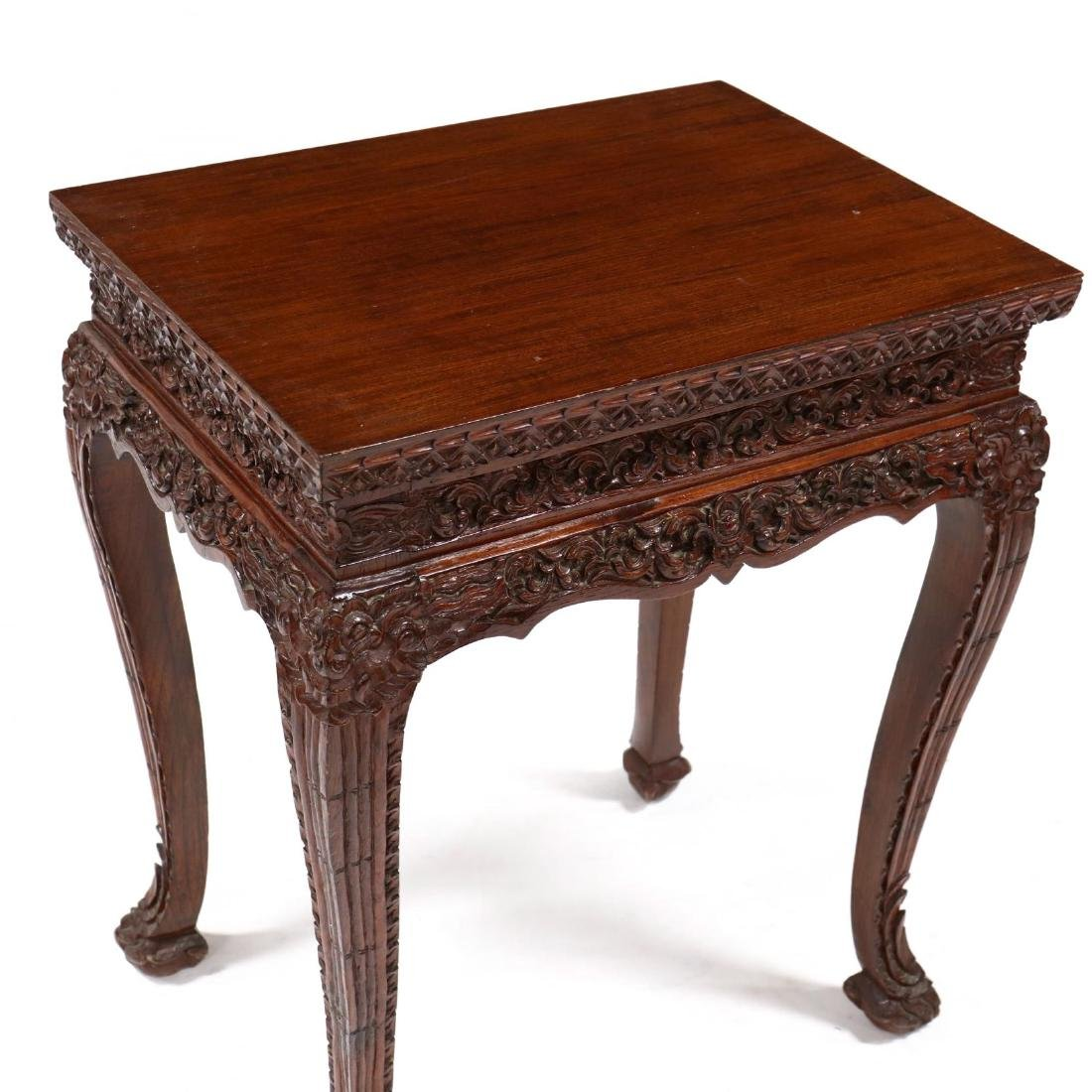 Chinese Carved Hard Wood Table - 2