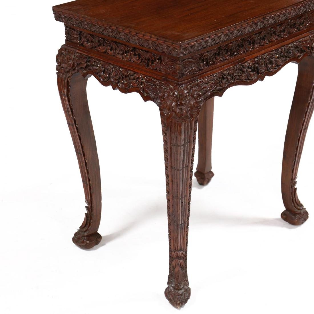 Chinese Carved Hard Wood Table - 3
