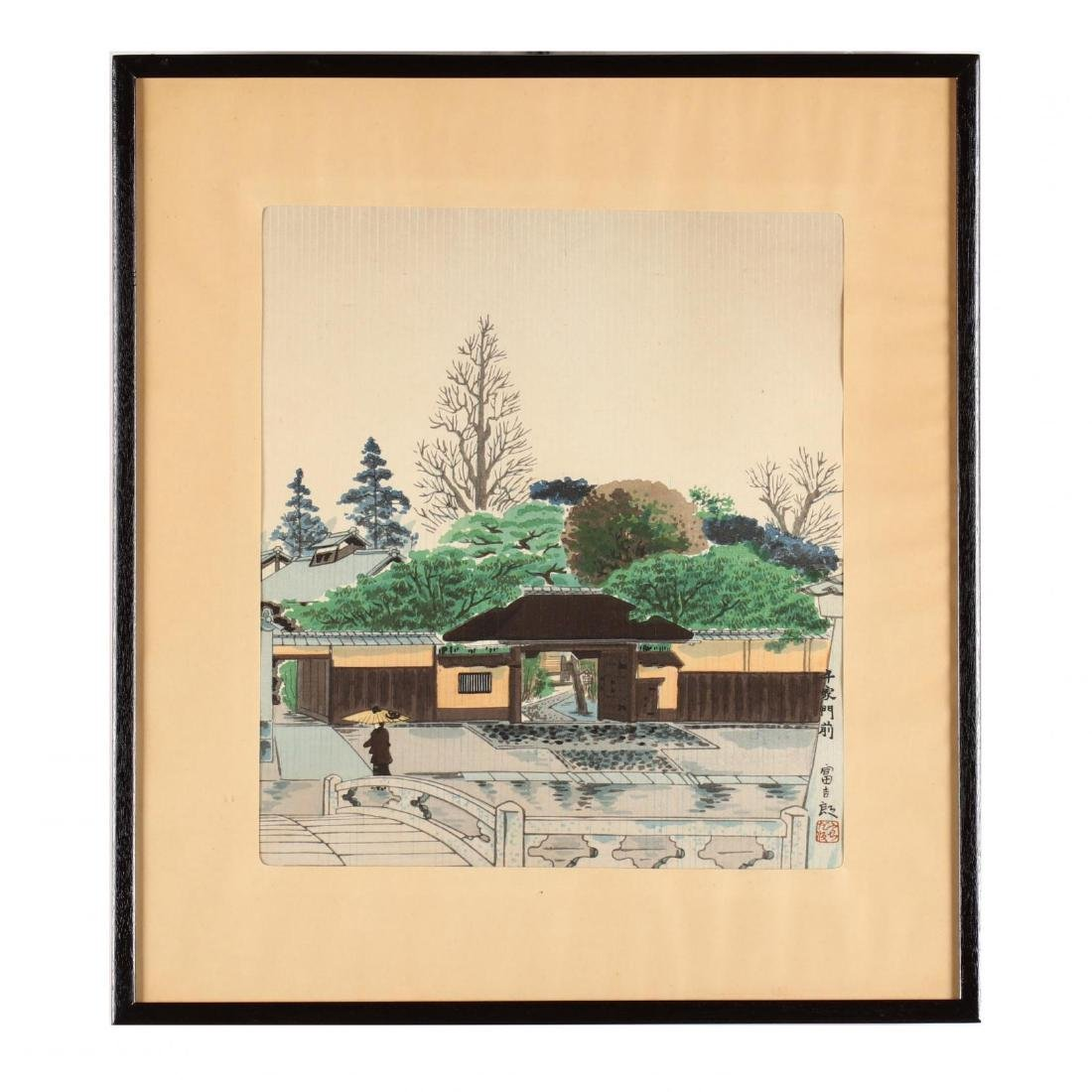 Four Woodblock Prints from  Thirty Views of Kyoto - 9