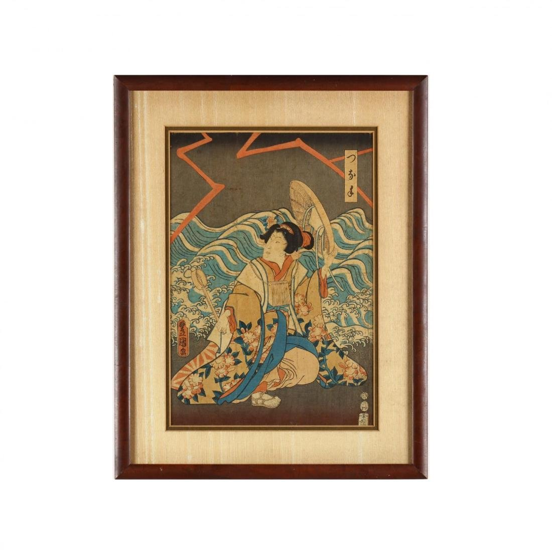 Two Japanese Woodblock Prints by Kunisada and Kuniyoshi - 7