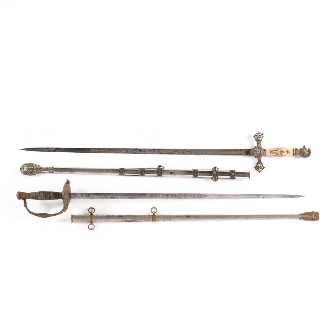 Two Fraternal Dress Swords