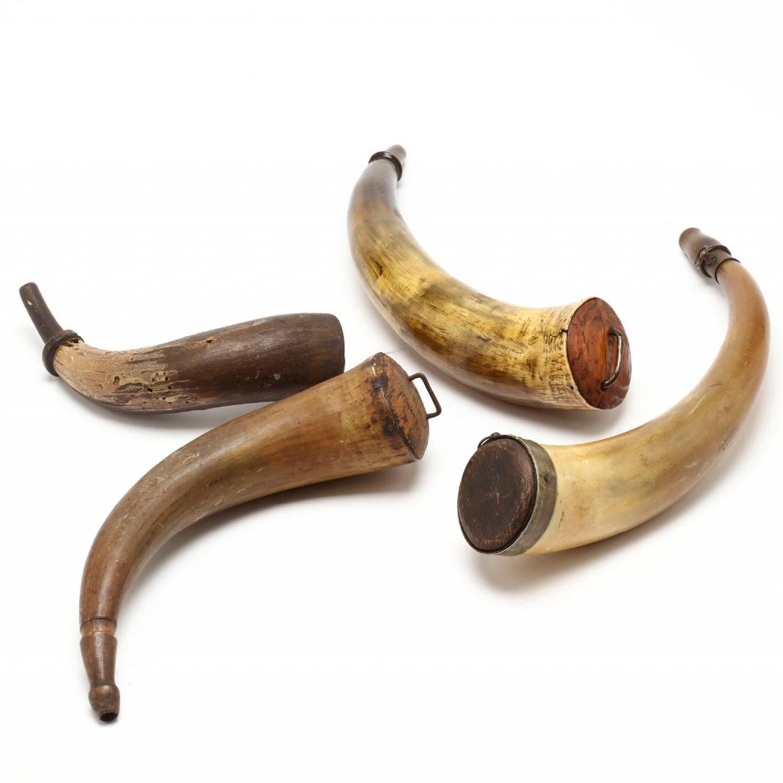 Four American Powder Horns