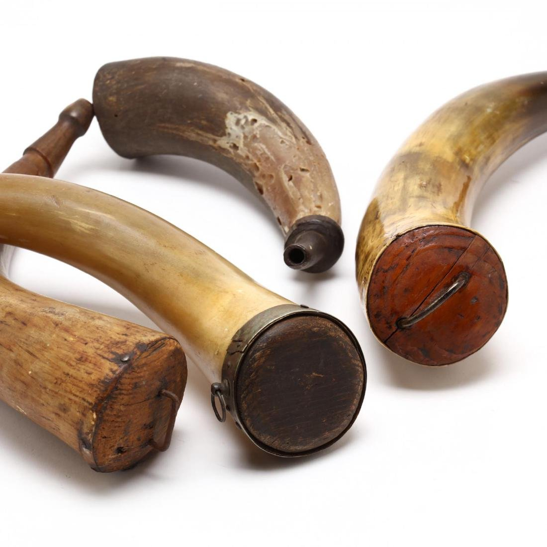 Four American Powder Horns - 4