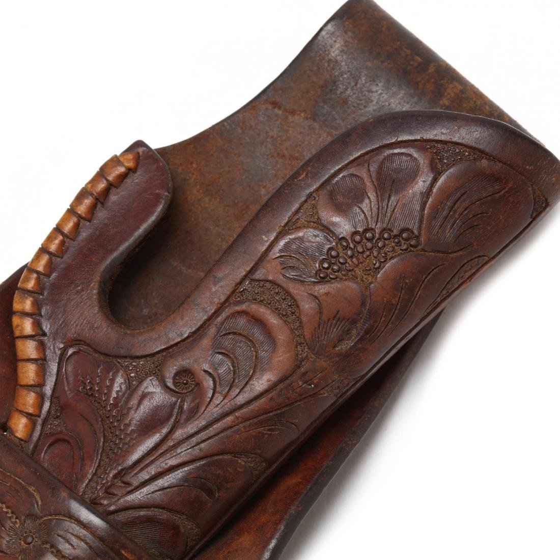 H.H. Hieser, Vintage Tooled Leather Holster - 4