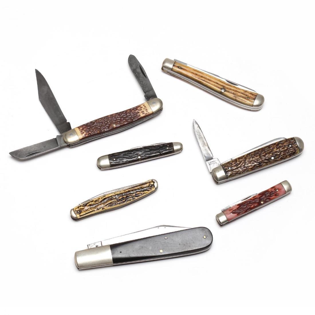 Seven Vintage Pocket Knives - 2