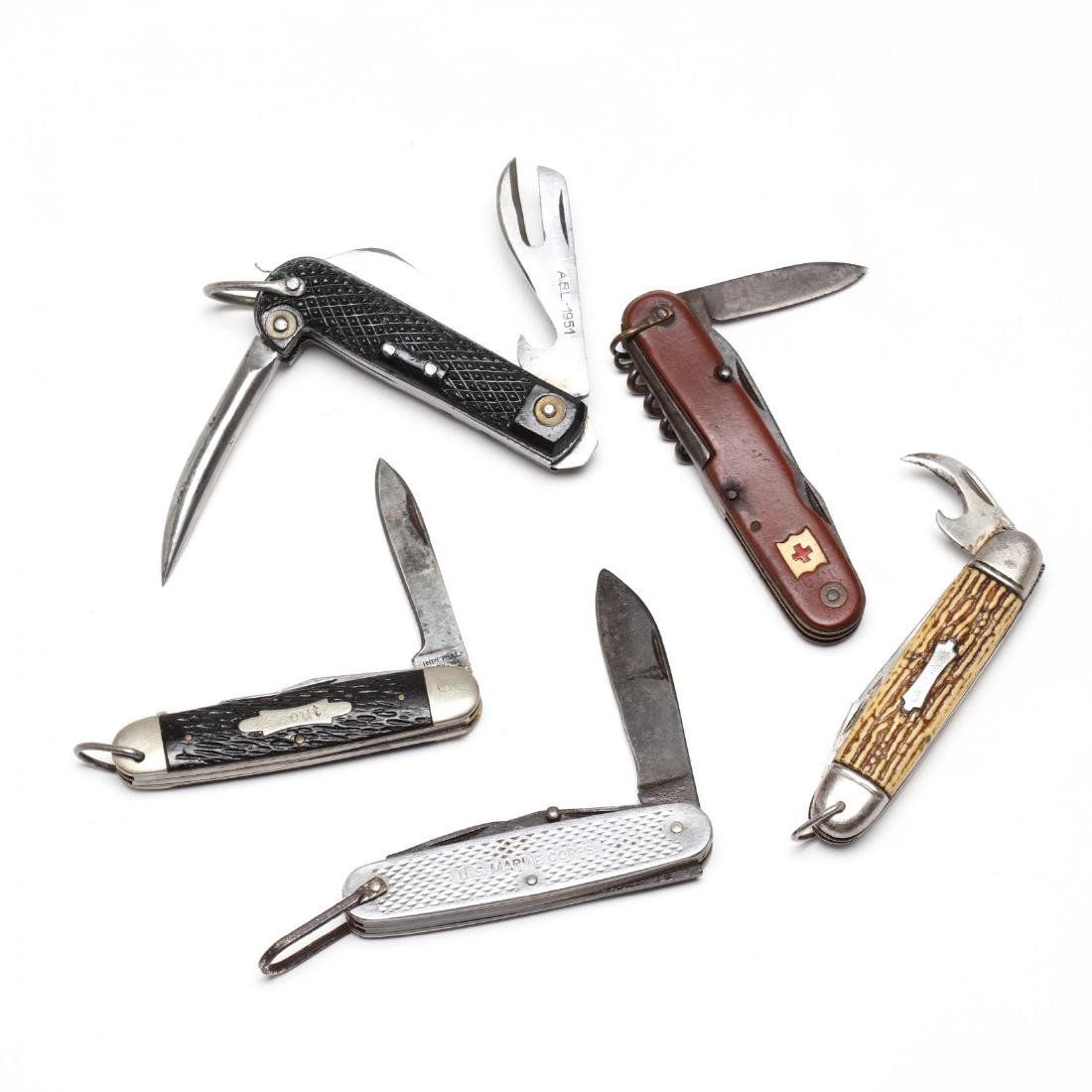 Five Vintage Pocket Knives