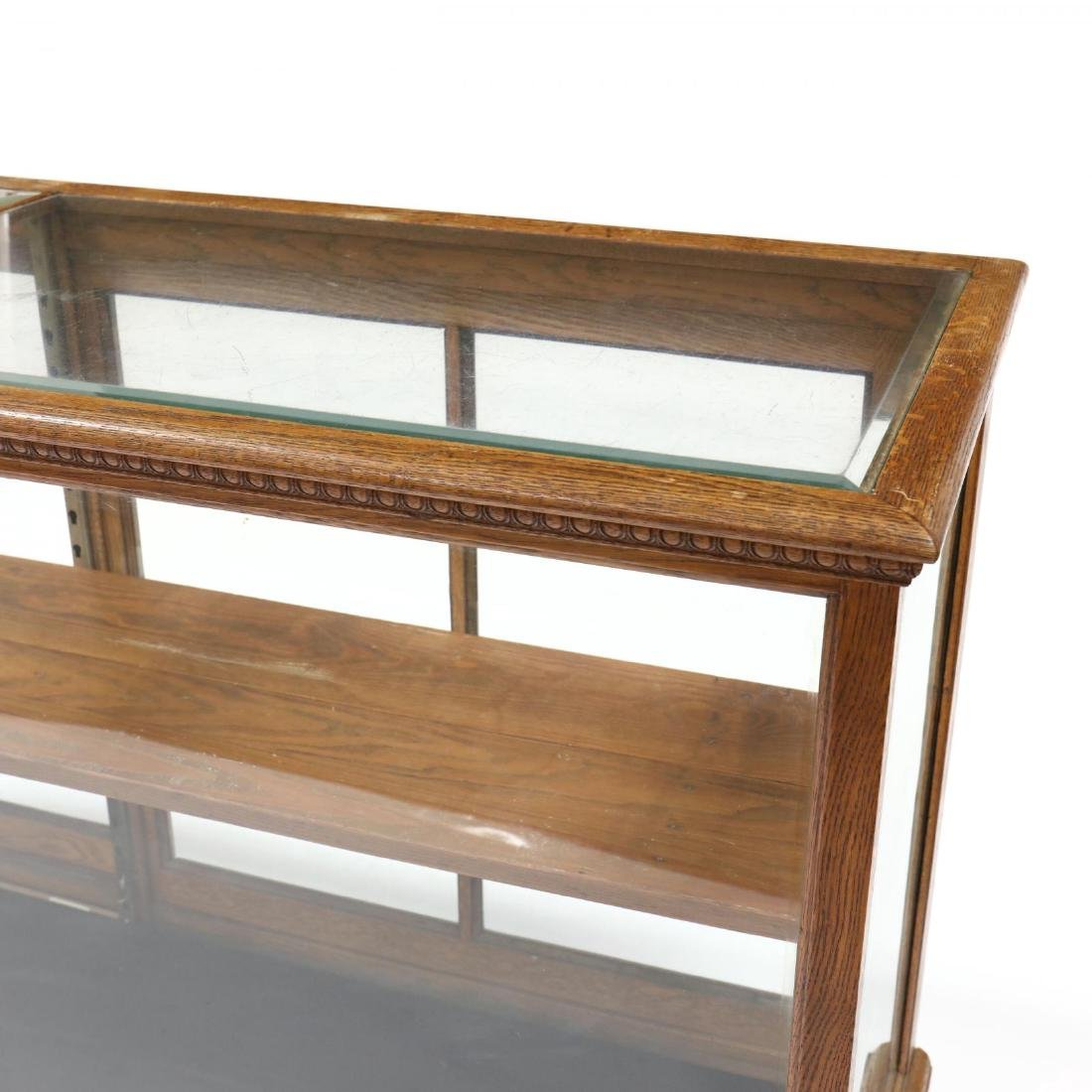 Antique Oak Floor Model Display Case - 2