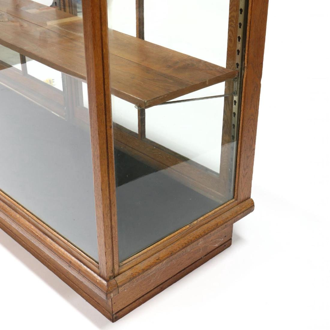 Antique Oak Floor Model Display Case - 3