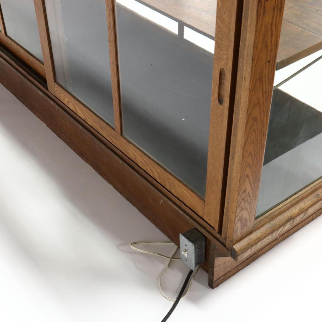 Antique Oak Floor Model Display Case - 4