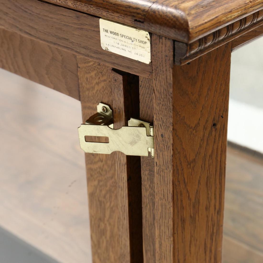 Antique Oak Floor Model Display Case - 5