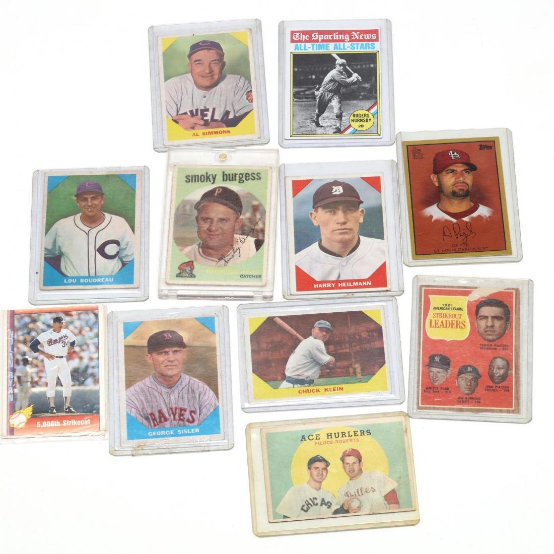 Twelve Baseball Cards, 1970s and Later
