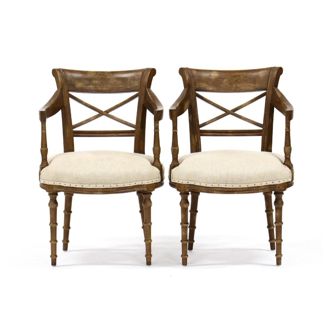 Park Hill Collection, Pair of Regency Style Arm Chairs