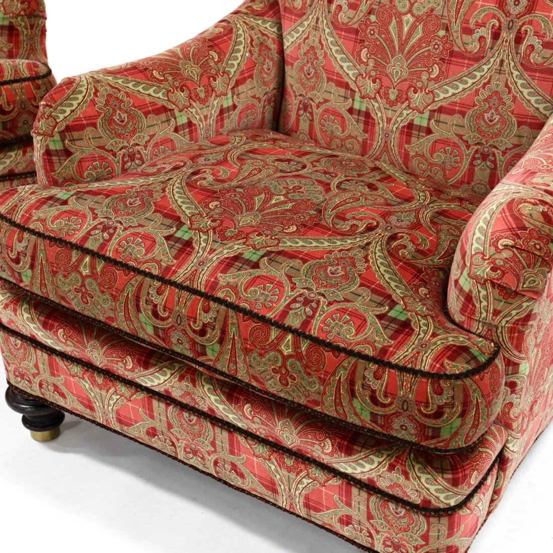 Hickory Chair Co., Pair of Scalamandre Upholstered Club - 2