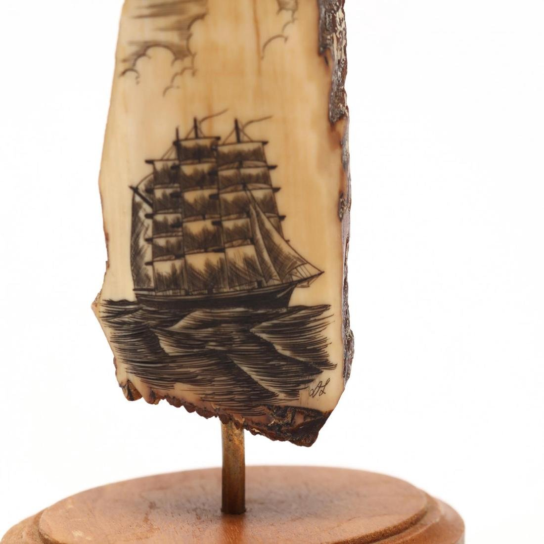 Two Signed Scrimshaw of Clipper Ships - 3