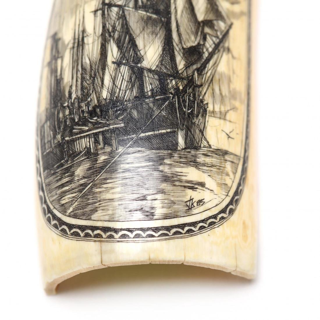 Two Signed Scrimshaw of Clipper Ships - 4