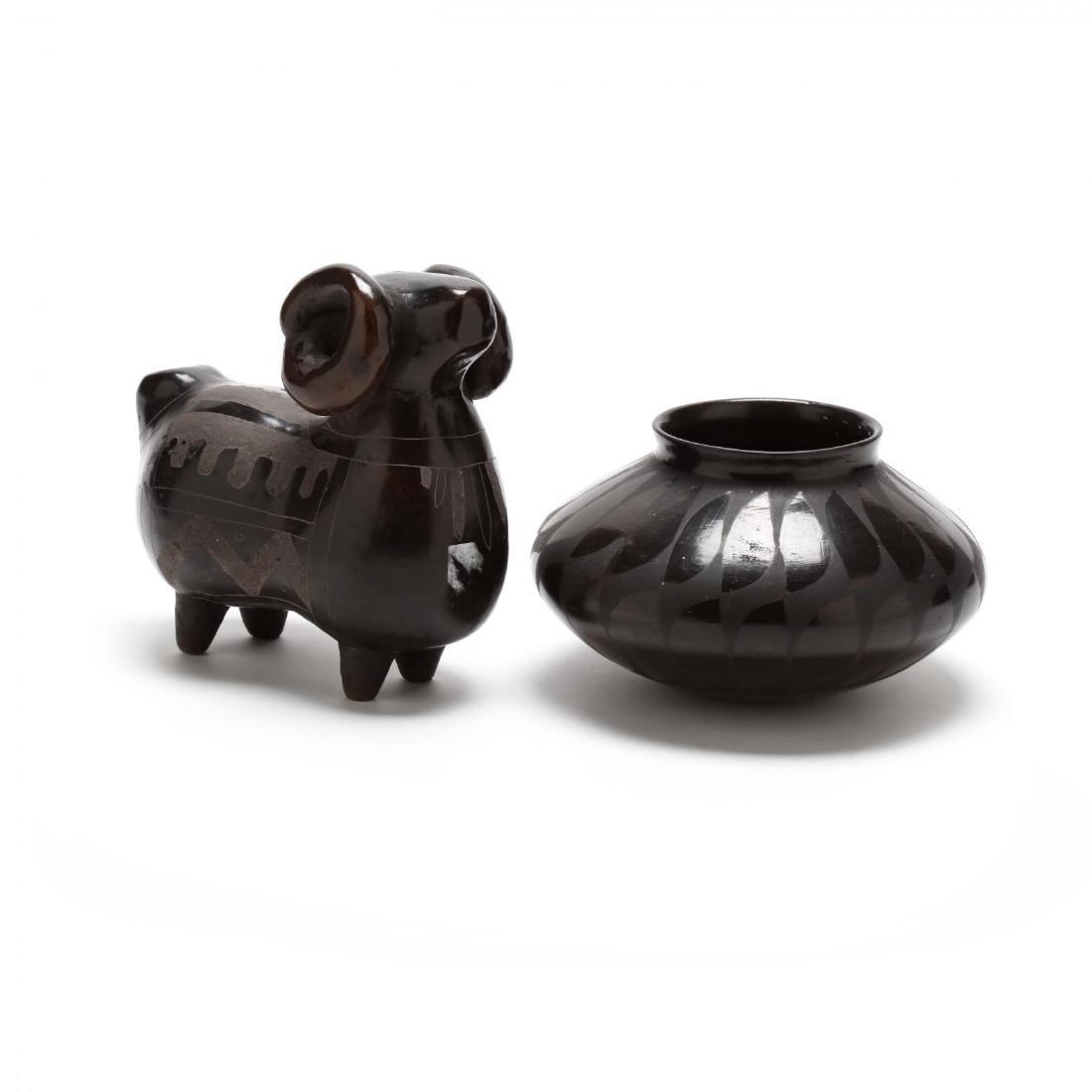 Two Blackware Pottery Vessels