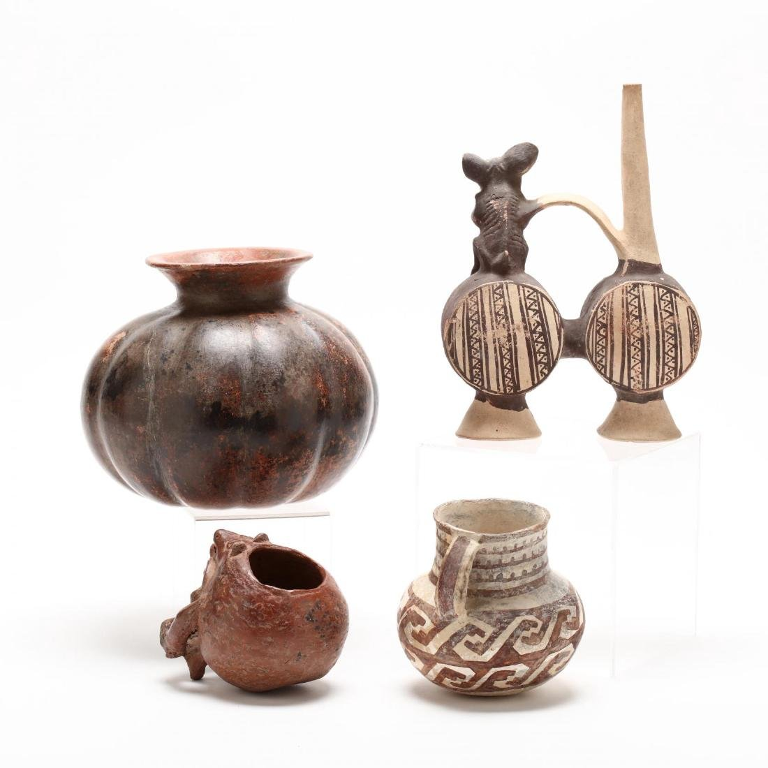 Four Pre-Columbian and American Indian Pottery Vessels - 2
