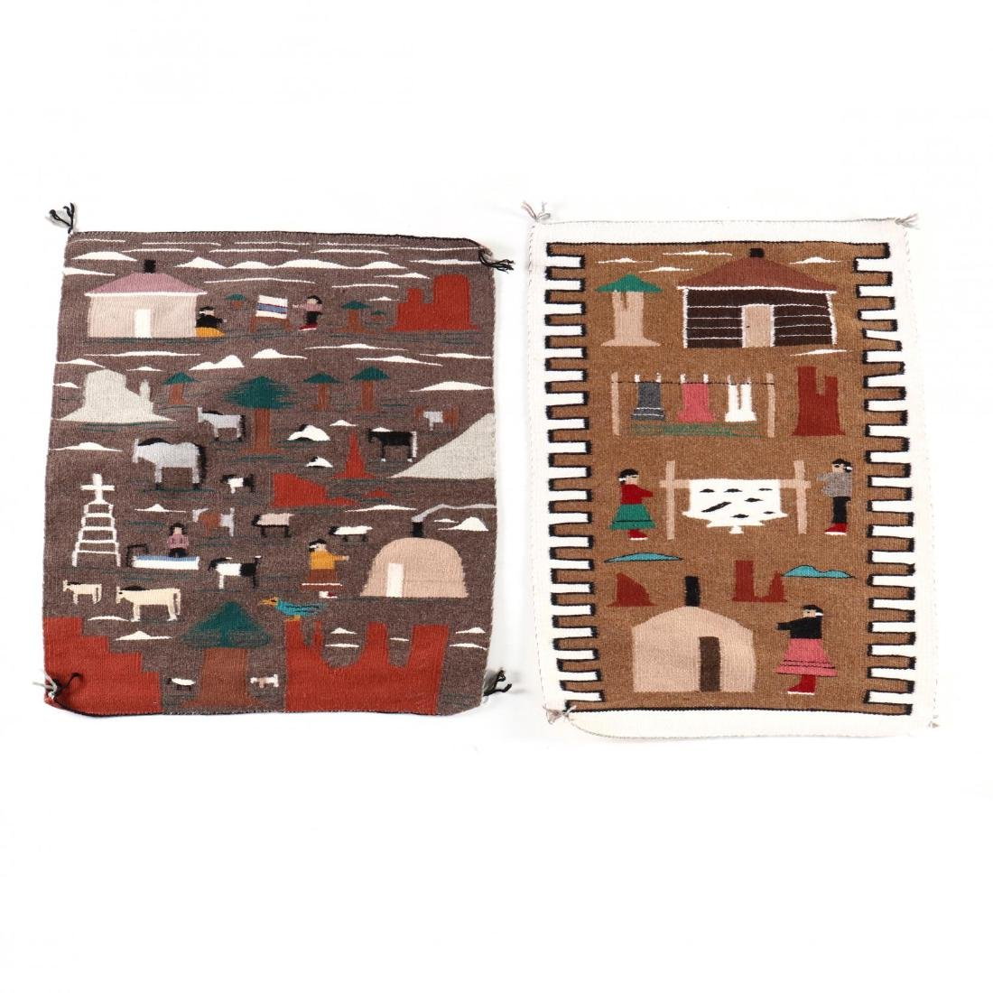 Two Navajo Pictorial Rugs