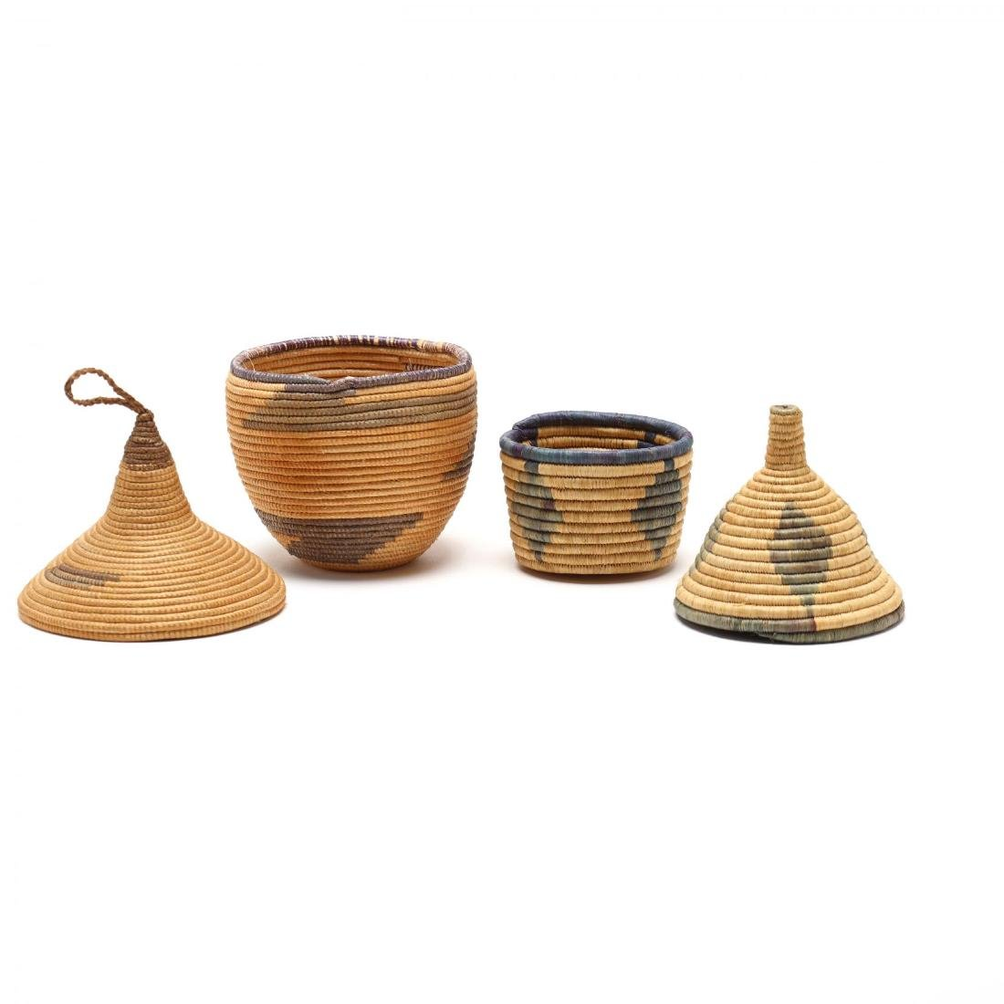 Two African Lidded Tutsi Baskets - 3
