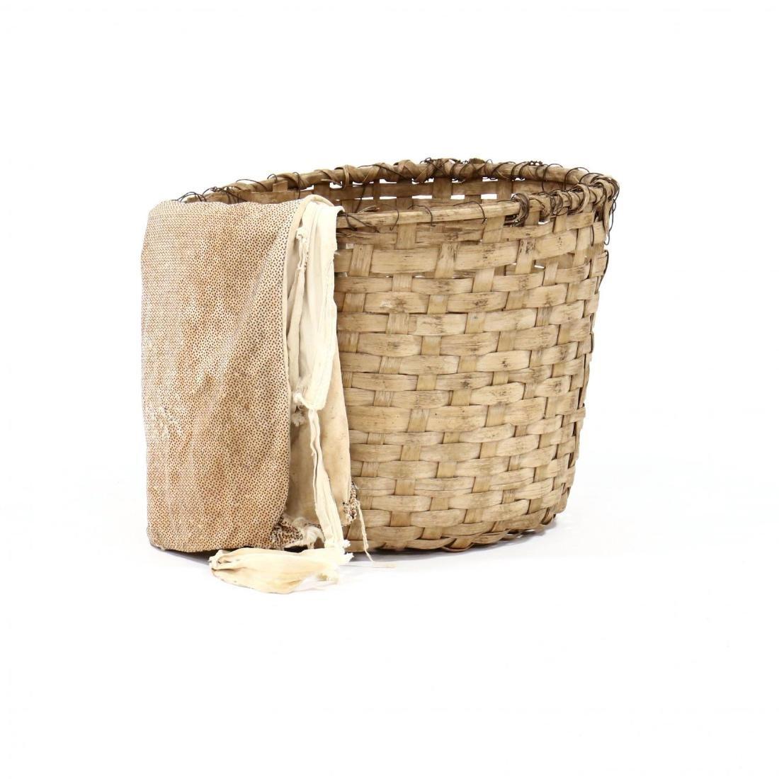 Antique Cotton Picker's Basket and Bag