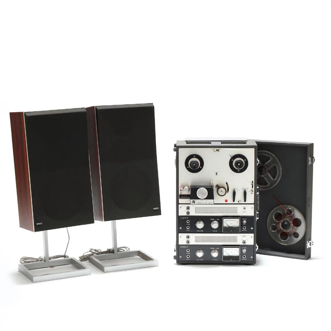 Akai Tape Recorder, and Bang & Olufson Speakers
