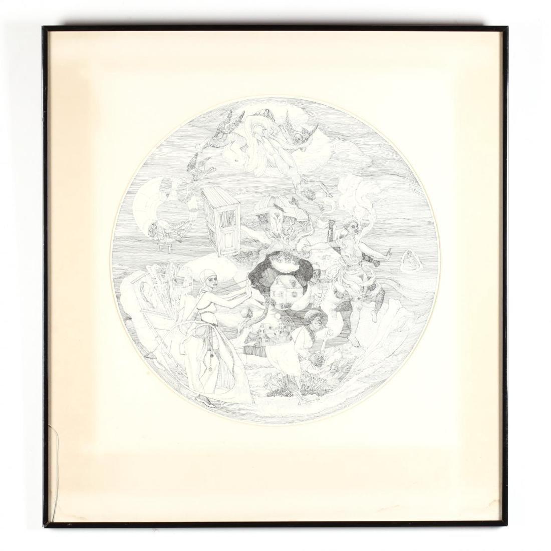 Roland Ayers (PA, 1932-2014), A Circular Lithograph