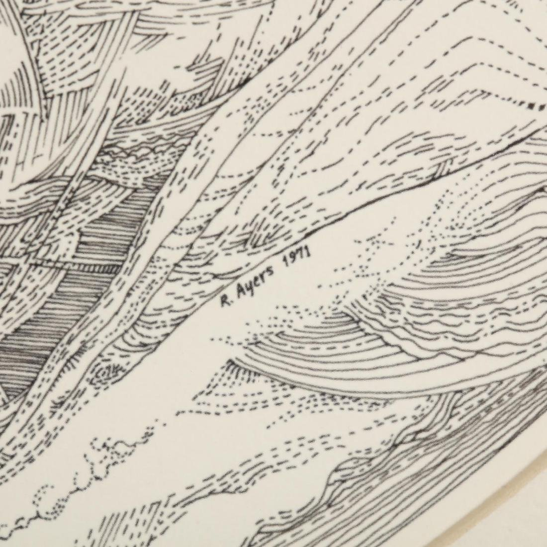 Roland Ayers (PA, 1932-2014), A Circular Lithograph - 2