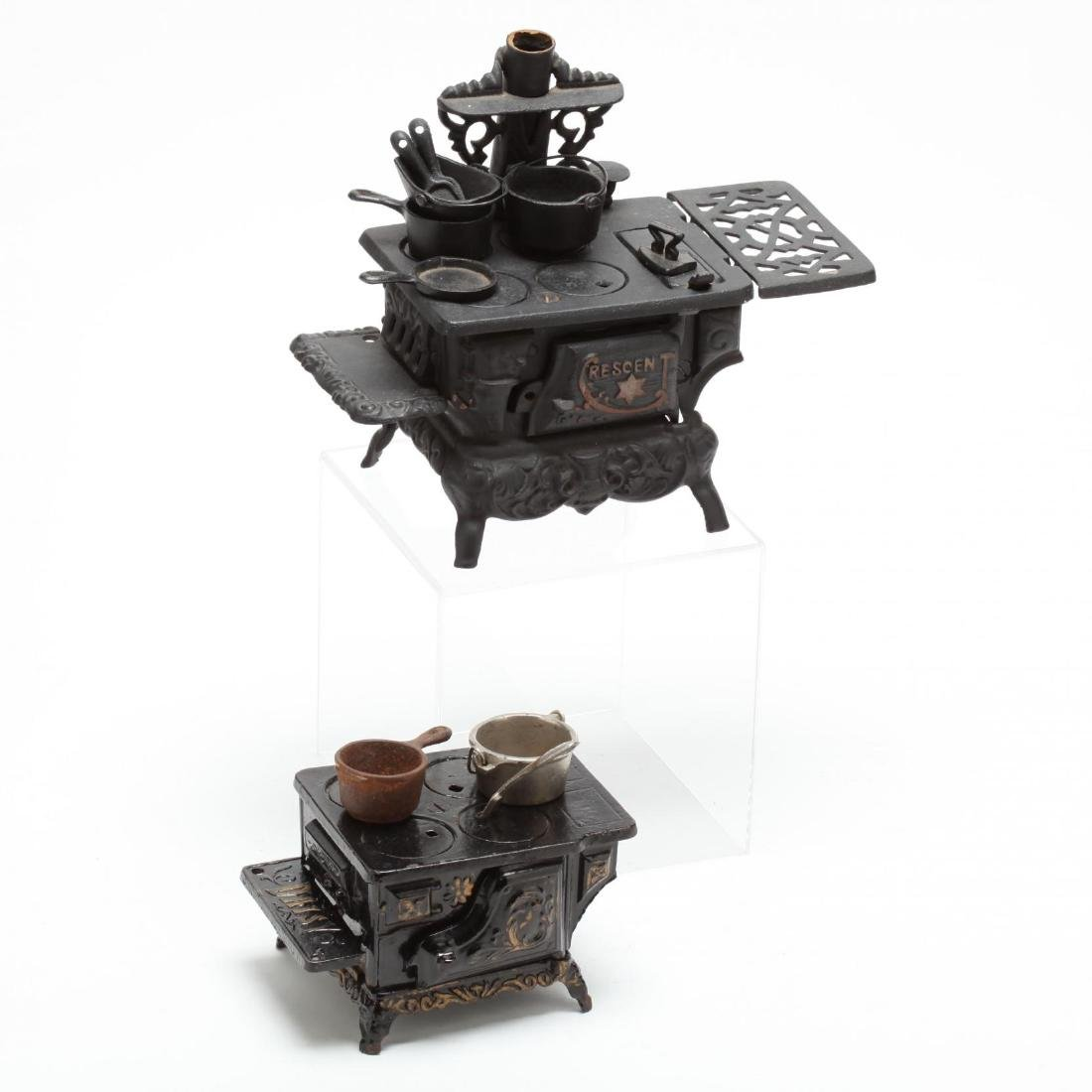 Two Toy Cast Iron Stoves - 2