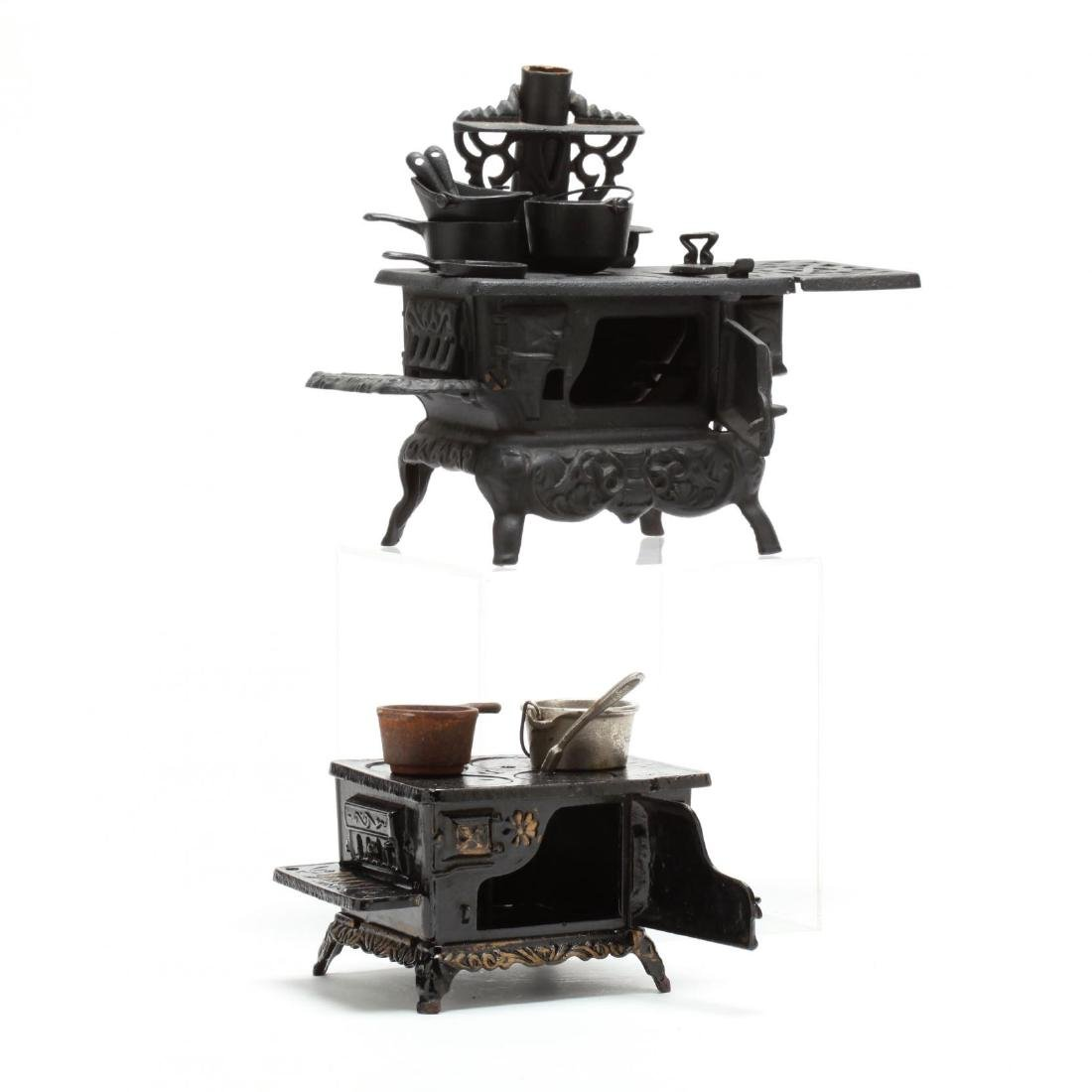 Two Toy Cast Iron Stoves - 3