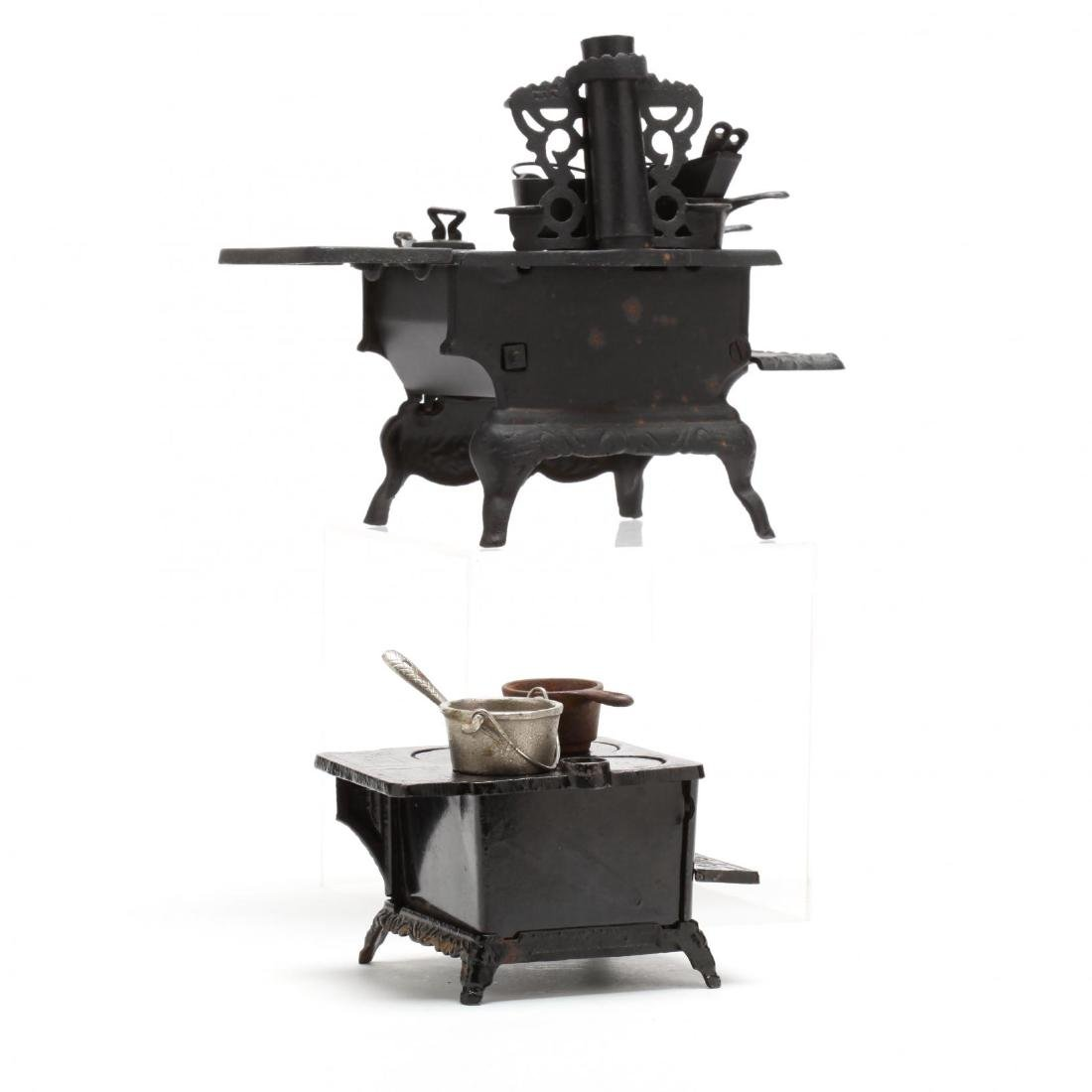 Two Toy Cast Iron Stoves - 4