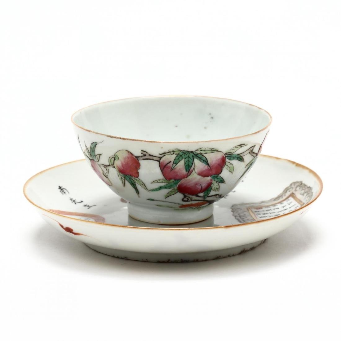 A Chinese Porcelain Export Tea Bowl and Saucer