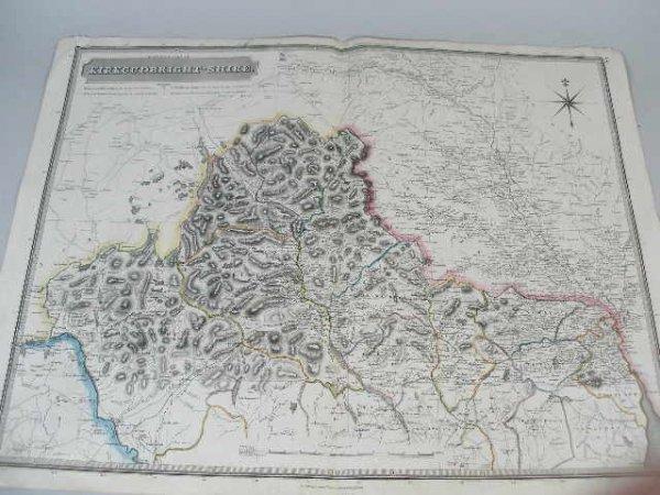 """2: Map, """"Kirkcudbright-Shire"""", John Johnson & Co. Edinb"""