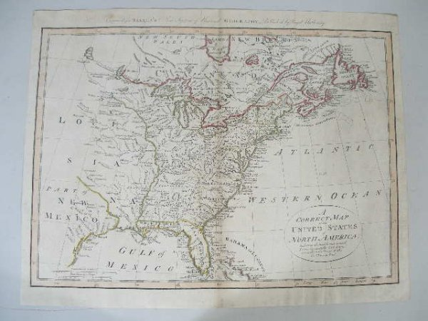 """3: Thomas Bowen Map, """"A Correct Map of the United State"""