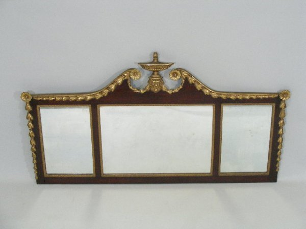 13: Federal Style Over Mantel Mirror, American, Early 2