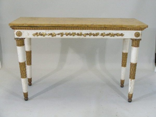 287: Italian Empire Style Marble Top Buffet, 19th c.,