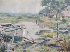 483: American School (20th c.), New Jersey Landscape,