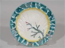 1074 Wedgwood Majolica Plate Ocean Shell  Seaweed