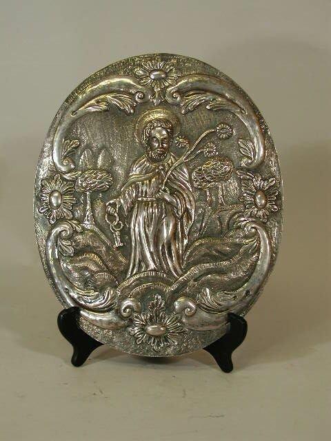1021: Silver Plaque,