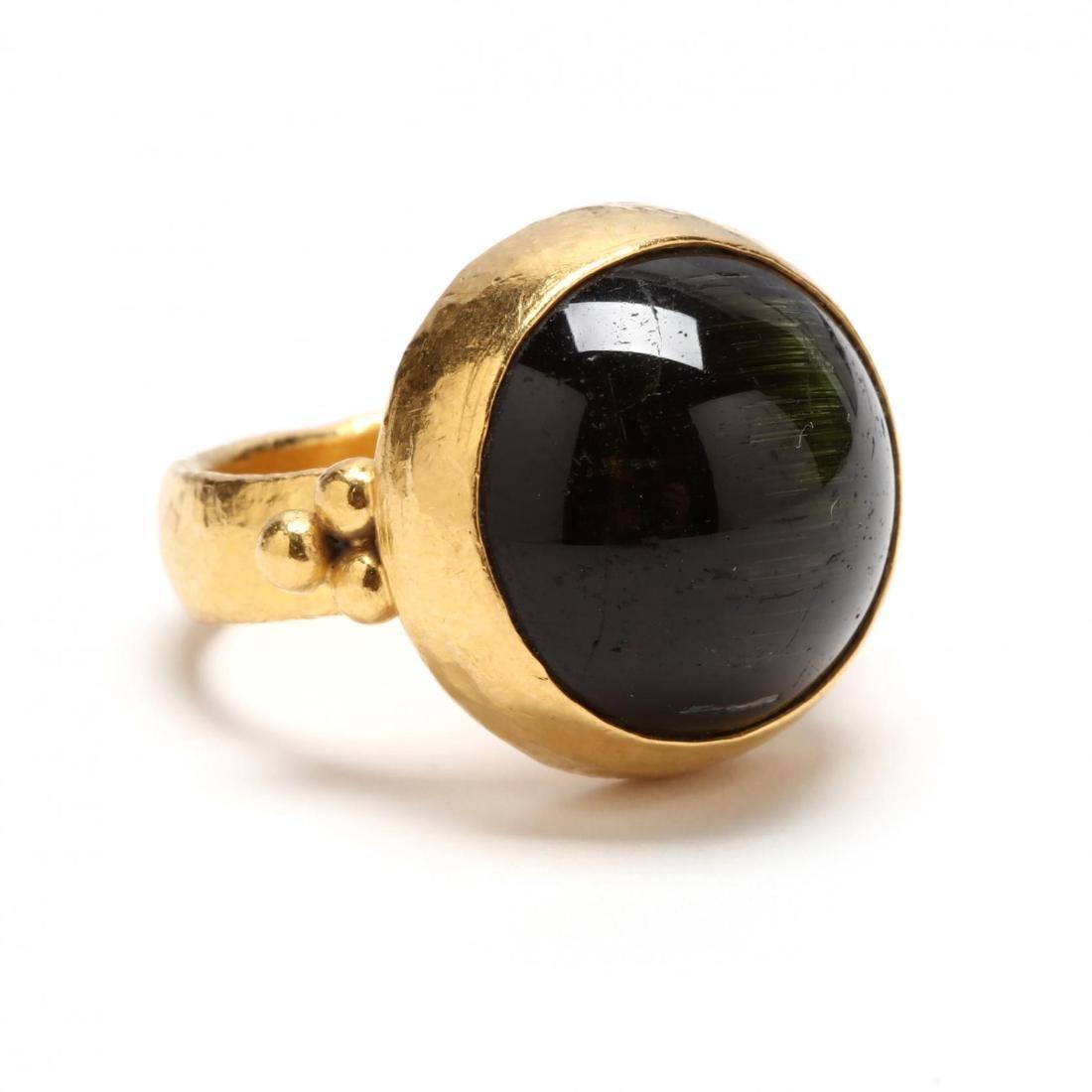 24KT Cat's Eye Tourmaline Ring, Gurhan