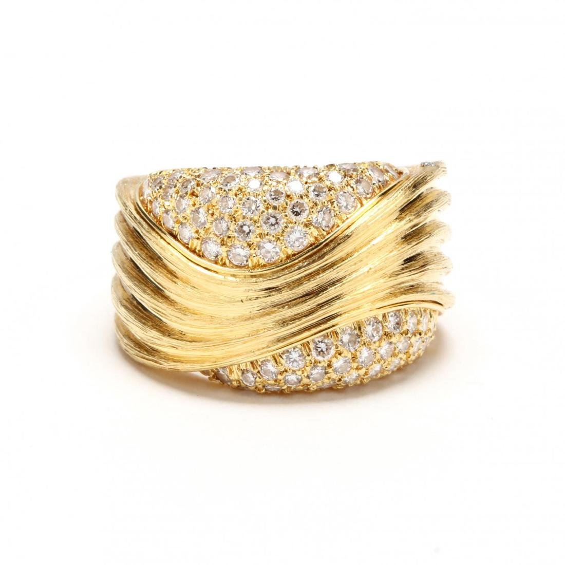 18KT Gold and Diamond Ring, Henry Dunay