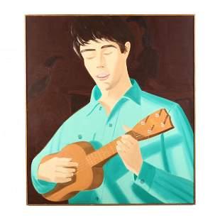 Alex Katz (NY/ME, b. 1927), Ukulele Player