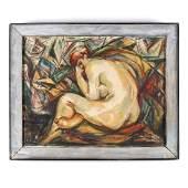 Dox Thrash (American, 1893-1965), Nude in a Cubist