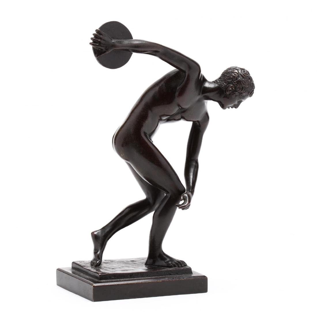 Bronze Figure of a Discus Thrower