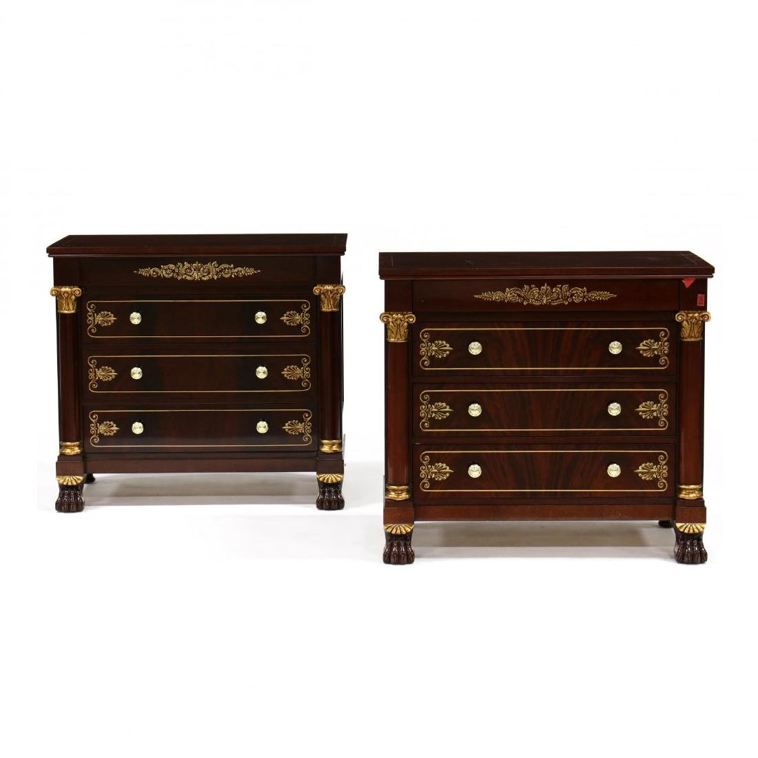 Kindel Masterworks, Winterthur Adaptation Pair of Gilt