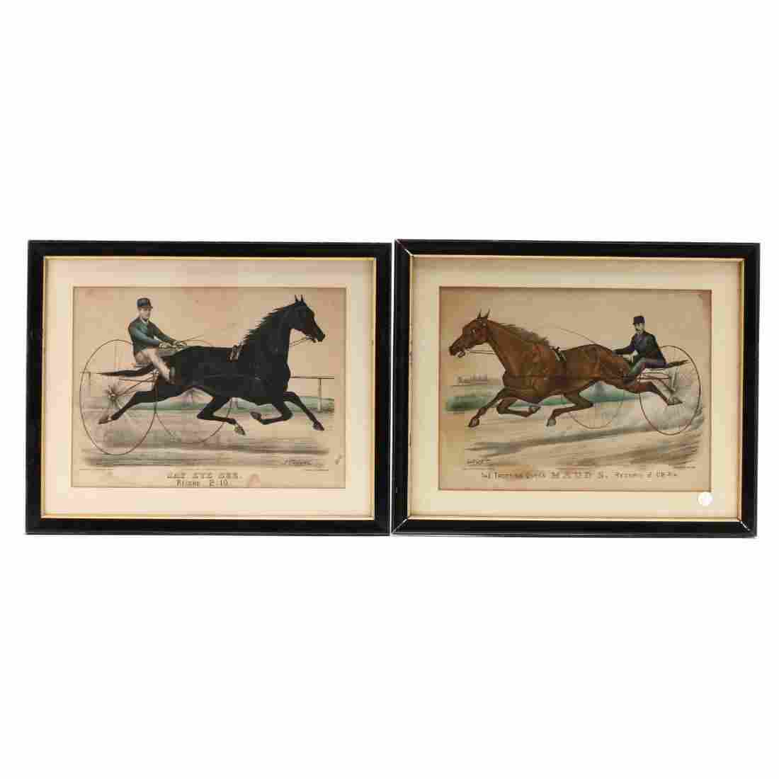 Two Currier & Ives Harness Racing Prints