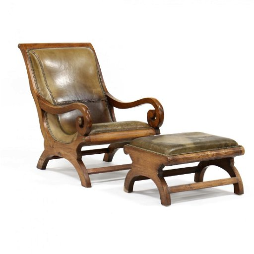 Astounding British Colonial Plantation Style Chair And Ottoman Dailytribune Chair Design For Home Dailytribuneorg