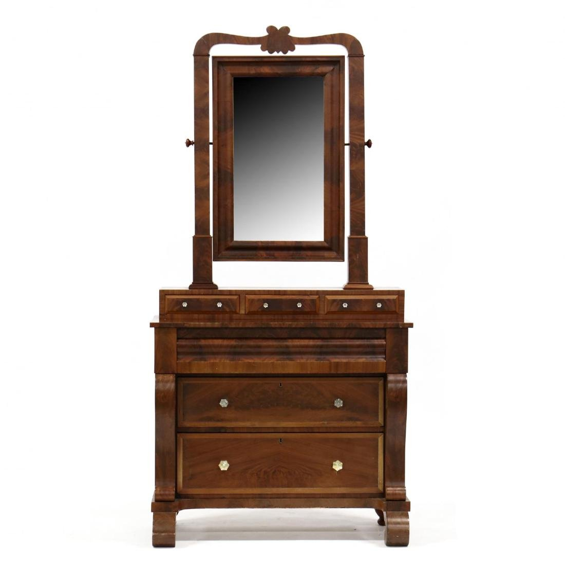 Southern Late Classical Dresser with Mirror