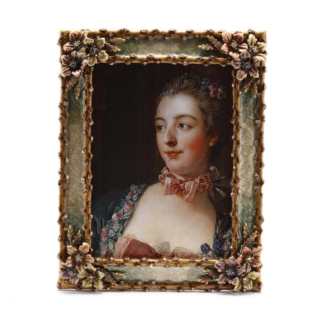 Enamel and Bejeweled Picture Frame, Jay Strongwater