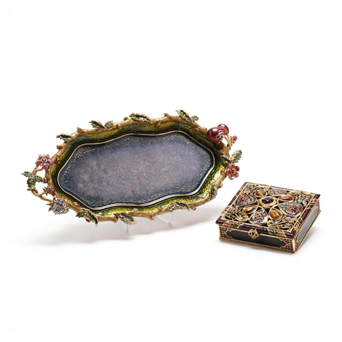 Two Enamel and Jeweled Vanity Items, Jay Strongwater
