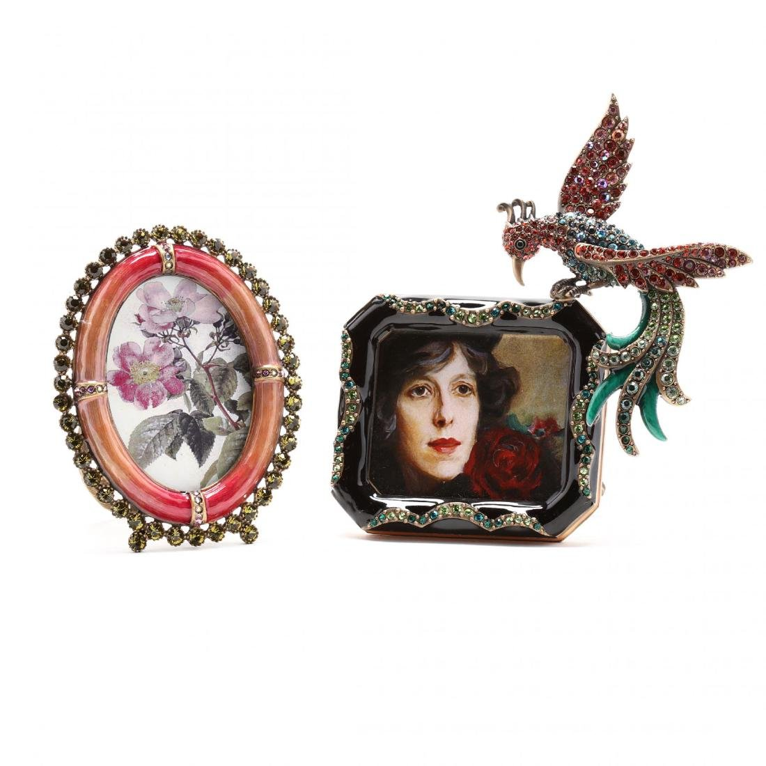 Two Miniature Picture Frames, Jay Strongwater